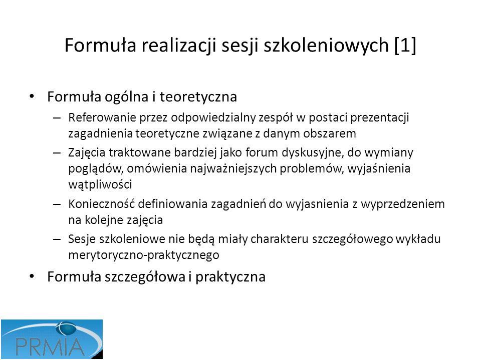 Formuła realizacji sesji szkoleniowych [1]